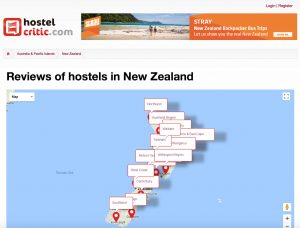 Reviews of hostels in New Zealand